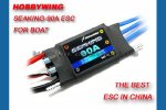 Seaking-90A Water-cooling Brushless ESC for Boat V2