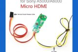 Micro HDMI to AV Cable for sony A5000/A6000(include Remote Shutter Release Cable)