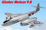 Dynam Gloster Meteor F.8 1270mm Wingspan - SRTF(Inc. 2.4G receiver with 6-Axis Gyro w/ABS)