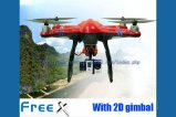 Skyartec MCFX-01 Free X SkyView GPS FPV Multicopter RTF With 2D Brushless Gimbal ( Red )