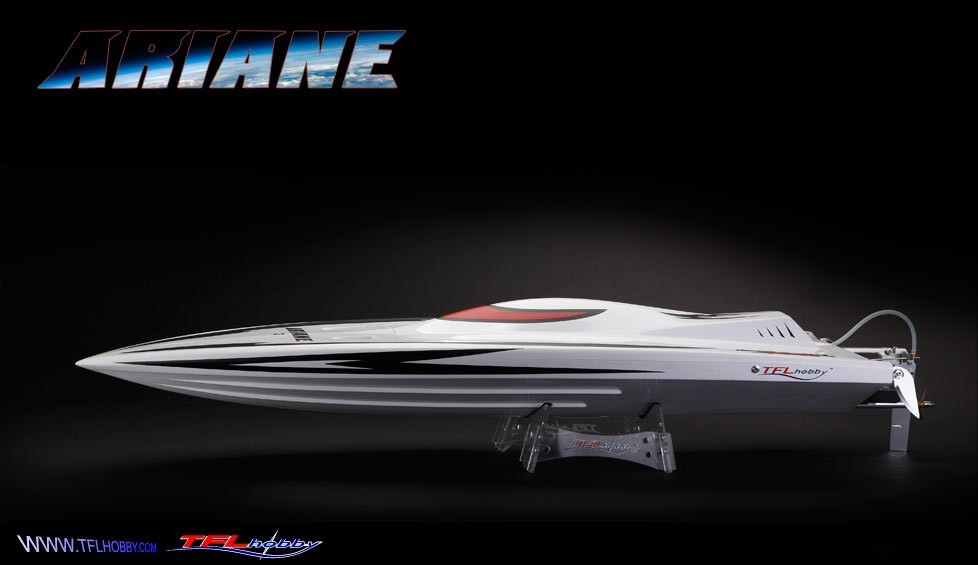 TFL Fiberglass Ariane RC Gasoline Boat/ Racing Boat with 26cc or 30cc/32cc Zenoah engine (Global Warehouse)