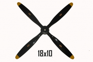 Biela 18x10 4-Blade Carbon Fiber Scale Corsair Propeller (Global Warehouse)