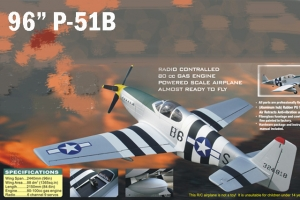 CYModels 96 inch P-51B with GP-88CC Combo (AUS Warehouse)