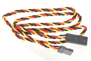 AUSTARS 60cm JR 22 AWG Servo Extension Lead  Twisted (Global Warehouse)