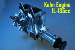 KOLM Engines IL135 4 Stroke Petrol Engine LONG Axis (only 1 in stock) for big P51 or Spitfire (Sold) (Global Warehouse)