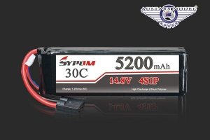 SYPOM Sports Max 5200 mAh 5S 25-50C Lipo battery for Jet or Drone (AUS Warehouse)