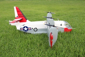 Unique Models LTV  LTV XC-142 Tilt-wing Experimental RC Aircraft Airplane PNP (Global Warehouse)