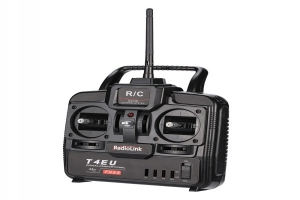 RadioLink T4EU 2.4G FHSS 4CH Transmitter Mode 2 Radio 4 in 1 Cotroller & R7EH-S 7CH Receiver for RC Helicopter Airplane (Global Warehouse)