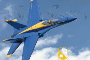 Freewing F/A-18C Hornet Blue Angels 90mm EDF Jet PNP Version for Simon CIF SYDNEY (AUS Warehouse)