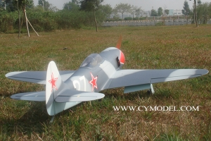 "CYModel 84"" Russian Yak 3U fighter w/electric retracts GST Inc (AUS Warehouse)"