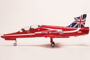 FF-J003 Bae Hawk UK Flag Wood wing/epoxy fuselage