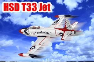 HSD T-33 Foam Jet Shooting Star EDF & Turbine version in two color schemes (w/manual on the web) PNP Version (Global Warehouse)