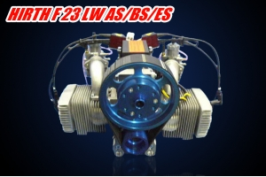 Belt reduction drive For HIRTH F-23 2 cycle 50hp  air-cooled two-cylinder boxer engine (Global Warehouse)