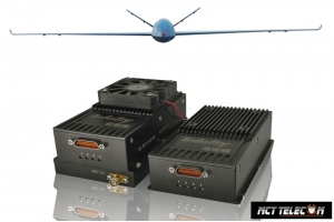 15-200 KM Transceiver 2.4GHz band (Telemetry with Videolink & Datalink) 3 in 1 for Industrial Class Drone