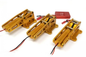 JP Hobby ER-150 15mm Alloy Electric Retracts Set 81°/90° (3 retracts) + Sequencer V1B (for models up to 20kg) (gold)