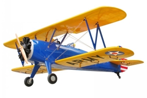 Combo (30% Stearman PT-17 100cc (Blue) GST Inc & Sea Freight) W/UMS 5/260 Radial (AUS Warehouse)