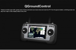 FPV UAV Ground Station AK28 Smart controller integrated video link,data link,Radio link