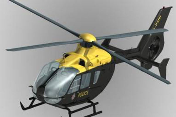 EC135 Eurocopter Scale Helicopter Frame for 500 Size EP Heli/JR Super Voyager or TREX 500(Black and yellow)