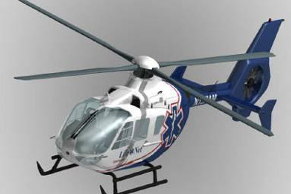 EC135 Eurocopter Scale Helicopter Frame for 500 Size EP Heli/JR Super Voyager or TREX 500(White and black)