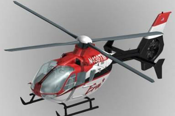 EC135 Eurocopter Scale Helicopter Frame for 500 Size EP Heli/JR Super Voyager or TREX 500(White and Red)