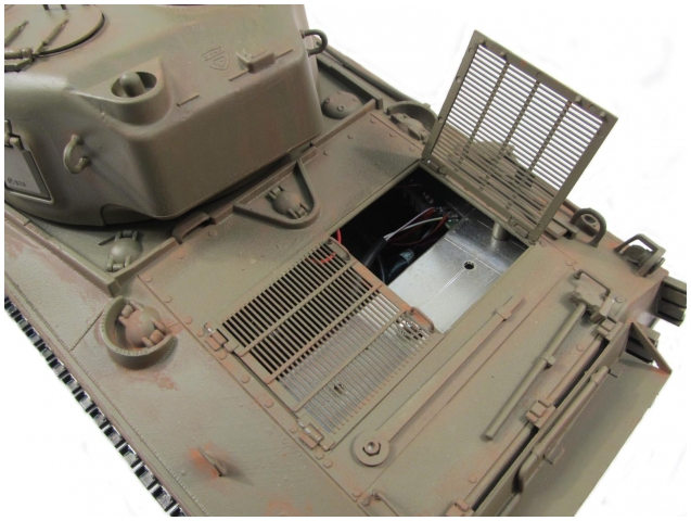 Mato 1:16 Complete 100% Metal M4A3(75)W Sherman Tank(BB / Recoil, Hand Painted: Amry green,RTR) (Global Warehouse)
