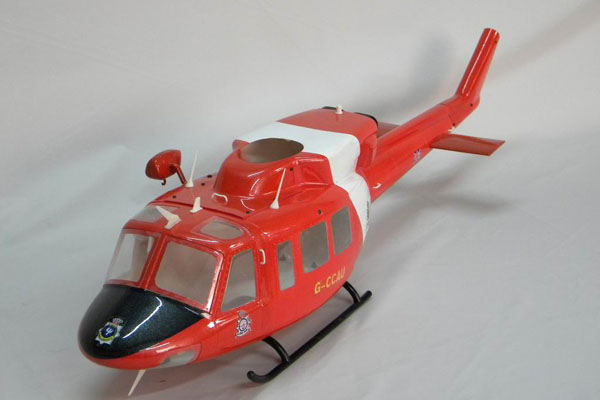 UH-1402 Eurocopter Scale Frame for 500 Size EP Heli/JR Super Voyager or TREX 500(Red and White) (Global Warehouse)