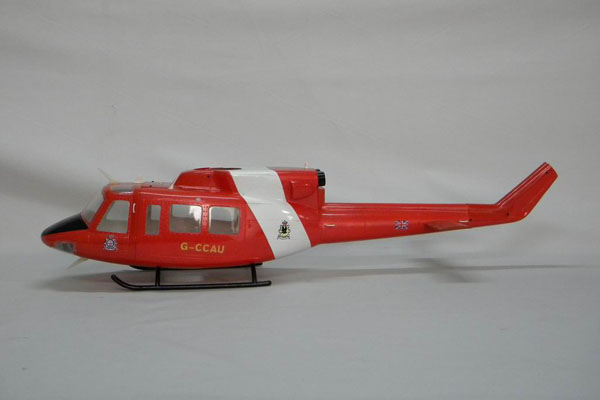 UH-1402 Eurocopter Scale Frame for 500 Size EP Heli/JR Super Voyager or TREX 500(Red and White)