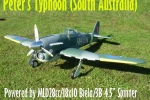 ESM 73.5 inch Hawker Typhoon ARF (last one, no more production) (AUS Warehouse)