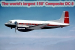 150 INCH COMPOSITE DC-3 (New Version 2019 with optional cowl upgraded)