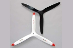 Biela 20x14 3-Blade Carbon Fiber Propeller, White with red tips for 50cc Racer GST Inc