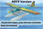GREEN RC Rocky-18 RTF water plane with GMS PULL START Engine and Floats