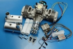 DLE 170CC TWIN UAV ENGINE With 14V 180W (New Version) Power Generator System GST Inc