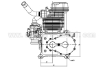 NGH  GF60i2  4 stroke Engine IN-LINE (Contact us for Pre order pricing/discount) (Global Warehouse)