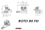 ROTO 85 FSI - two cylinder four stroke Inline gasoline engine (Global Warehouse)