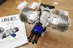 DLE 130 cc Twin Cylinder Petrol Engine (2-3 kg more thrust than 120cc) Wide range battery option 4.8-12V for CDI