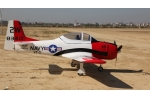 87 Inch 2200 mm Hybrid Material T-28 Trojan Warbird w/JP Electric Retracts/Brake (Global Warehouse)