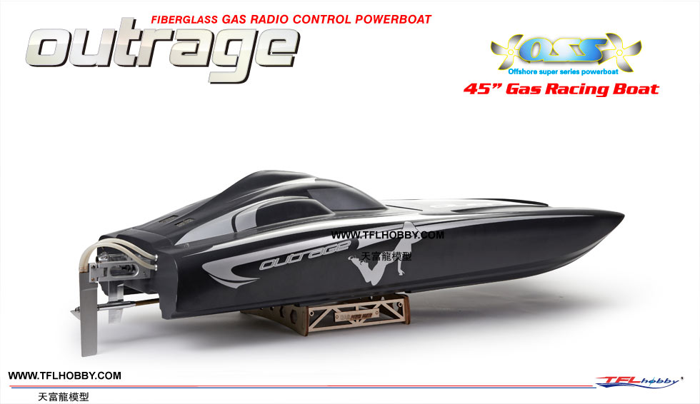 TFL HOBBY 1315 OUTRAGE GAS BOAT with 26cc Zenoah engine (Global Warehouse)