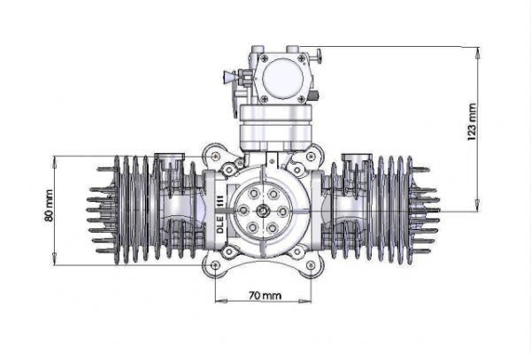 DLE 111cc engine (Global Warehouse)
