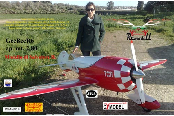 110 Inch Gee Bee R4 with HD landing gear (Global Warehouse)