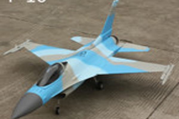 F-16 Composite Jet (Black and White color)+ACE 60 Turbojet Engine w/brushless pump and free grass filter (Global Warehouse)