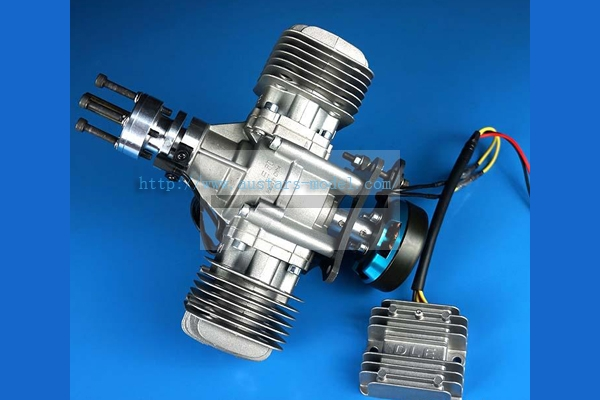 DLE 60CC TWIN UAV ENGINE With 14V 180W Power Generator System (New Version 2019) (Global Warehouse)