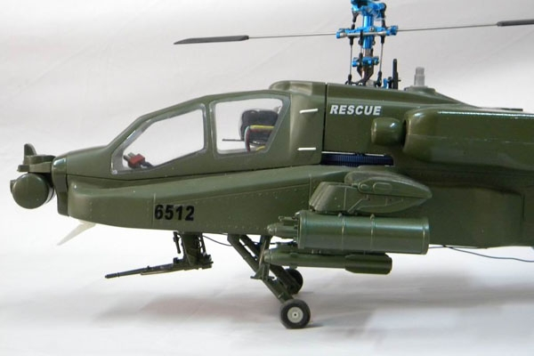 AS550 Eurocopter Scale Frame for TREX 600 (ESP) or Thunder Tiger 50SE(army green) (Global Warehouse)