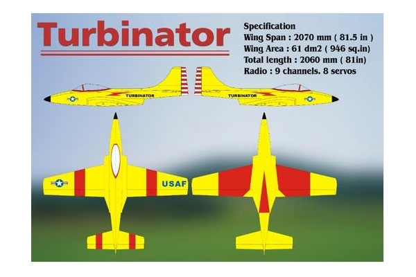 BOOMERANG JETS TURBINATOR MISS AMERICA &USAF Orange&Yellow + Red& Go Navy SCHEME (Global Warehouse)