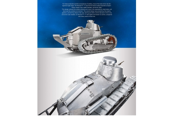 Warslug German  FT-17  1/6 scale Aluminum-alloyTracks StaticVersionl Pre Order pricing/discount (Global Warehouse)