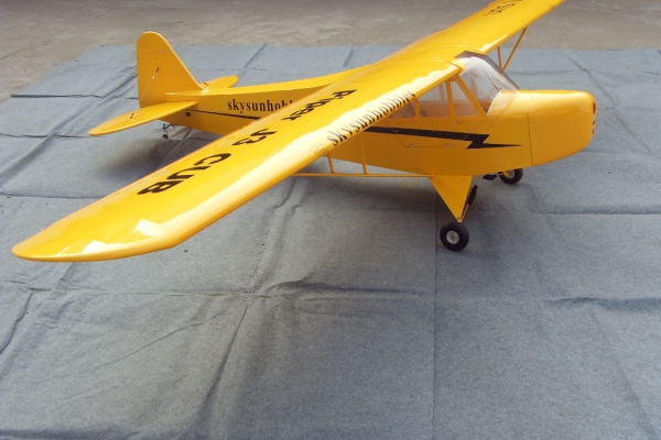 40% scale 157 inch J-3 Piper Cub for 100cc Engine free shipping to USA, Japan, Australia (Global Warehouse)