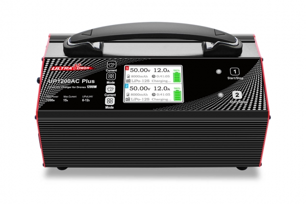 Ultra Power UP1200AC PLUS 2X600W 15A 6-12S Battery Balance Charger For UAV Drones (Global Warehouse)