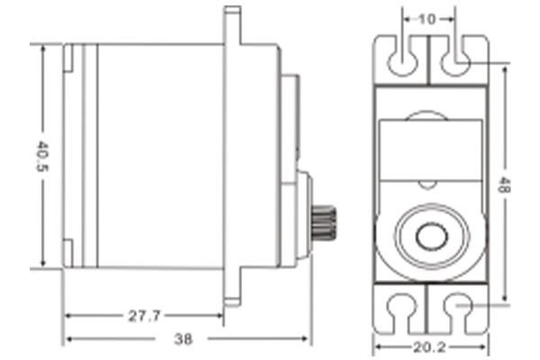 JX PDI-6113MG 13KG High Precision Metal Gear Digital Coreless Standard Servo (Min Q: 8 for Free Airshipping) (Global Warehouse)