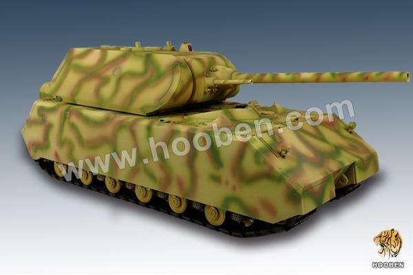 Hooben 1:16 GERMANY MAUS SUPER HEAVY TANK C6605F (Global Warehouse)