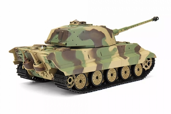 Heng Long 6.0 3888A -1 1/16 2.4G German Tiger King Henschel Rc Battle Tank Smoking Sound Plastic One Toys (Global Warehouse)