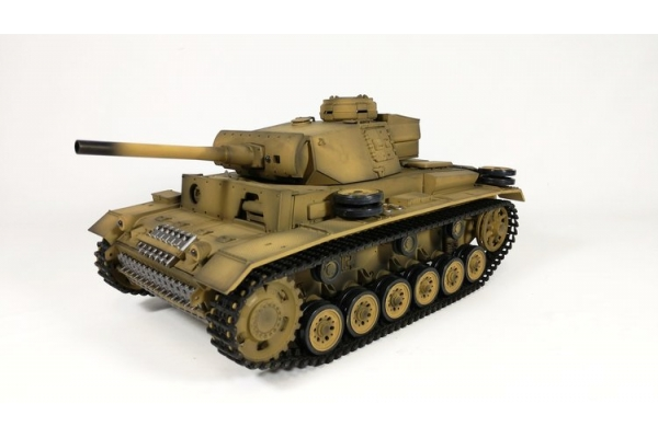 Heng Long 1/16 2.4G 3848-1 Panzer III Plastic Edition Tank (Global Warehouse)